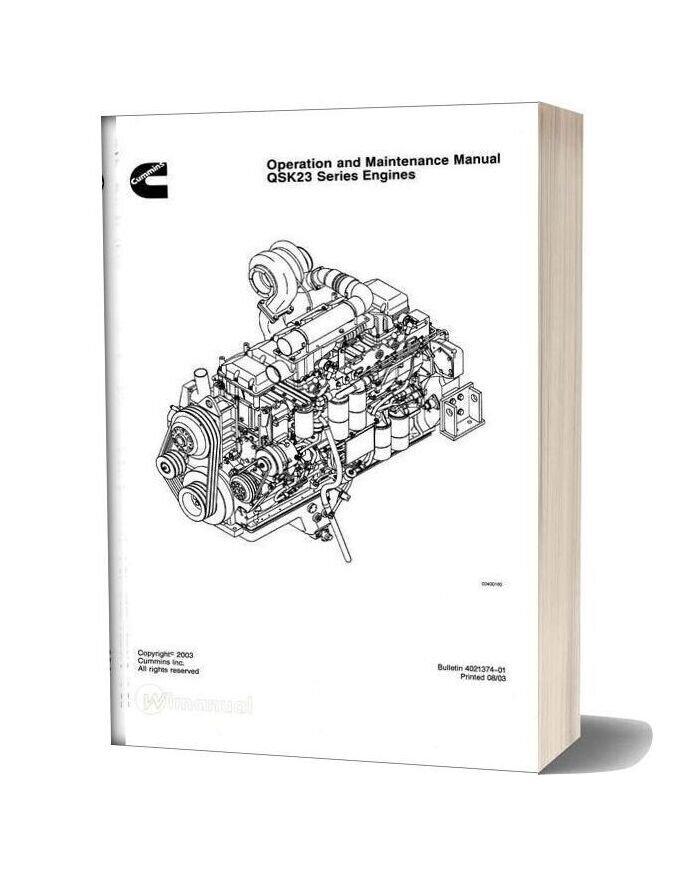 Cummins Qsk23 Engine Service Manual