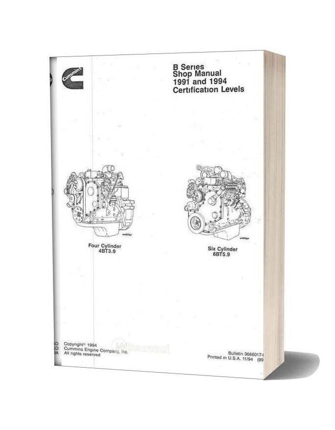 Cummins Shop Manual B Series
