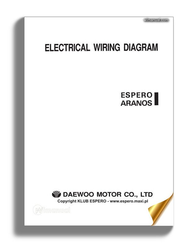 daewoo espero aranos automotive electrical wiring diagram