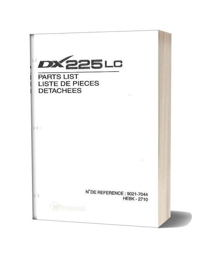 Daewoo Excavator Dx 225lc Parts Manual