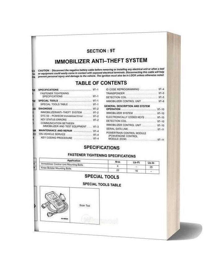 Daewoo Nubira J100 Factory Service Manual
