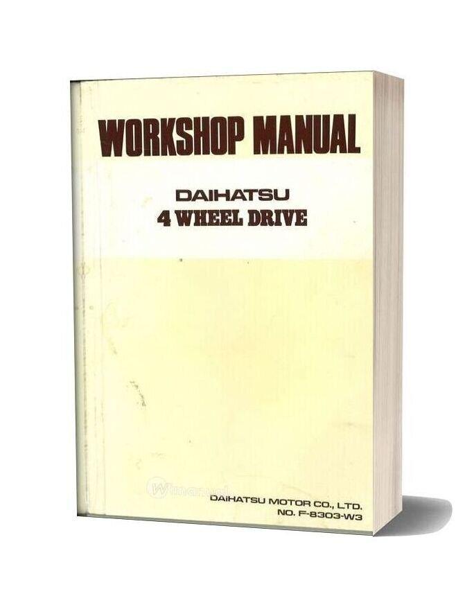 Daihatsu F50 Workshop Manual