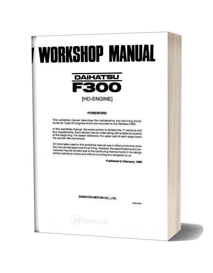 Daihatsu Fe300 Engine Service Manual