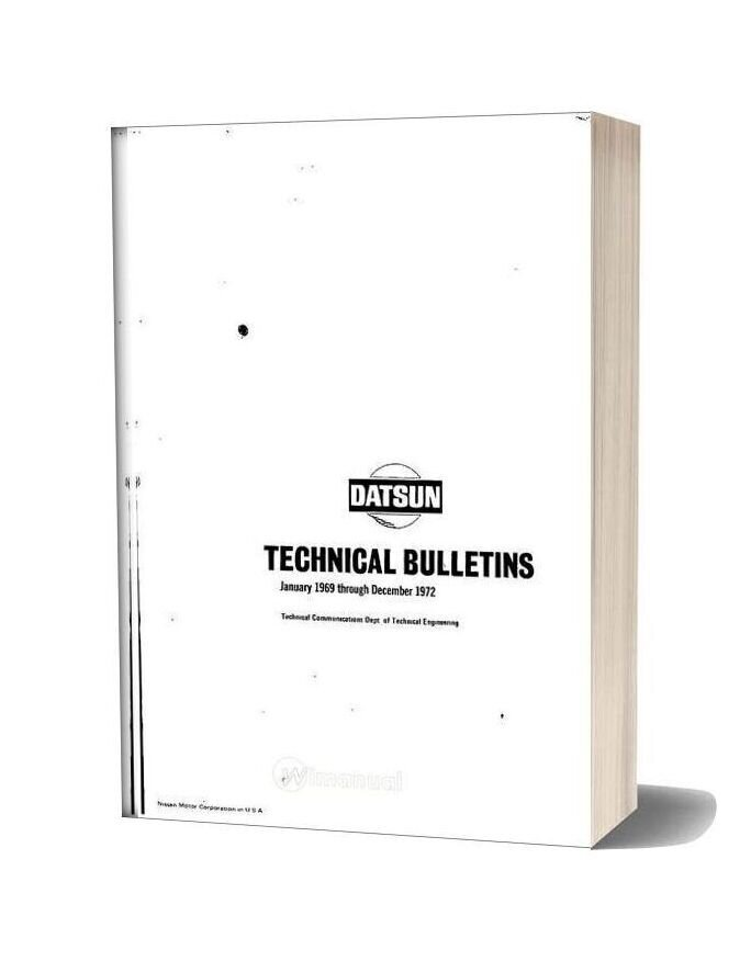 Datsun Technical Bulletins 1969 1972