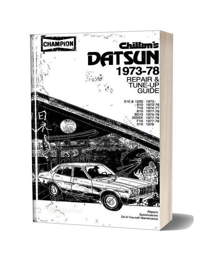 Datsun Tune Up Repair 1973 78