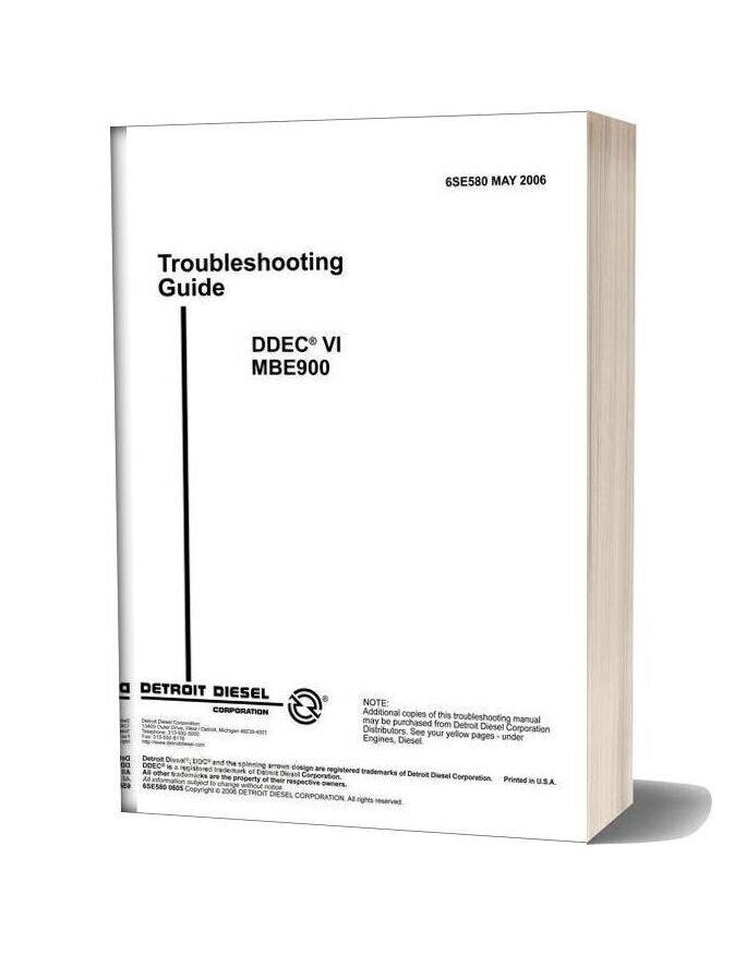 Detroit Diesel Ddec Vi Mbe900 Troubleshooting Guide