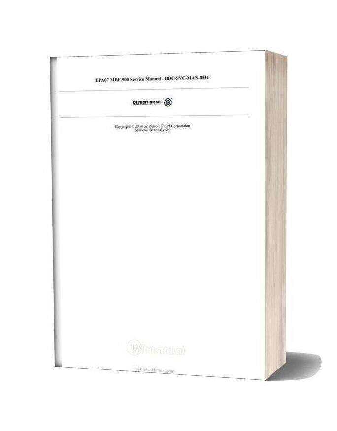 Detroit Epa07 Mbe 900 Service Manual