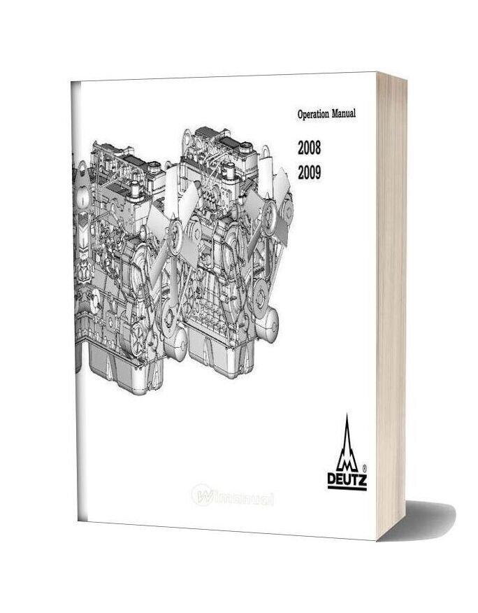 Deutz 2008 2009 Operation Manual