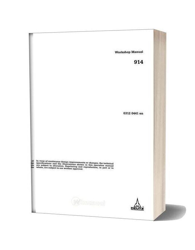 Deutz 914 Engine Workshop Manual