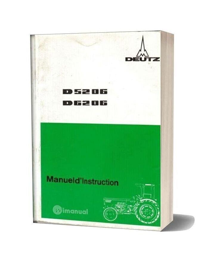 Deutz D5206 6206 Manuel D Instruction
