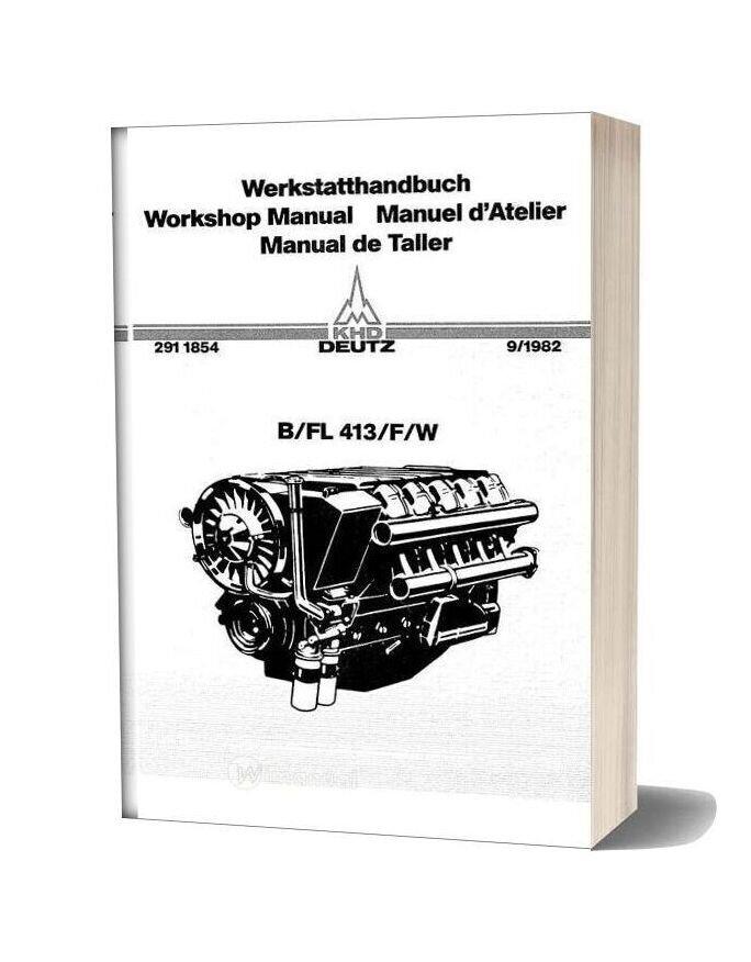 Deutz Engine B Fl413 F W Workshop Manual Copy