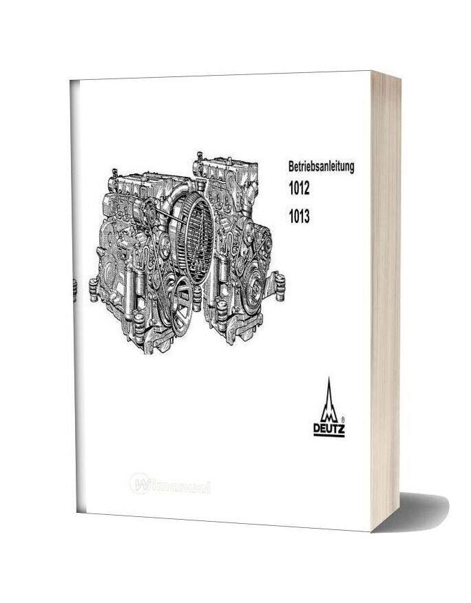 Deutz Engine Betriebsanleitung 1012