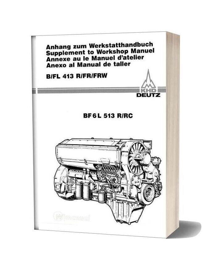 Deutz Engine Bf6l513r Workshop Manuals