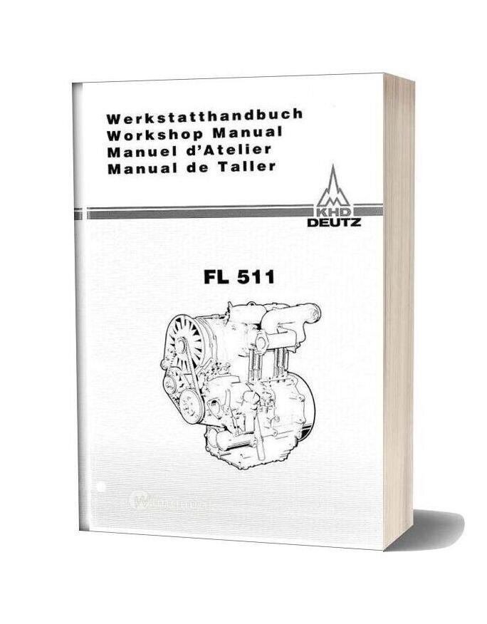 Deutz Engine F511 W Workshop Manuals