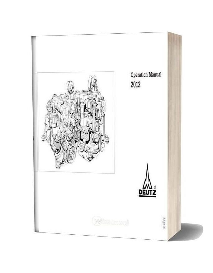 Deutz Engine Operation Manual 2012