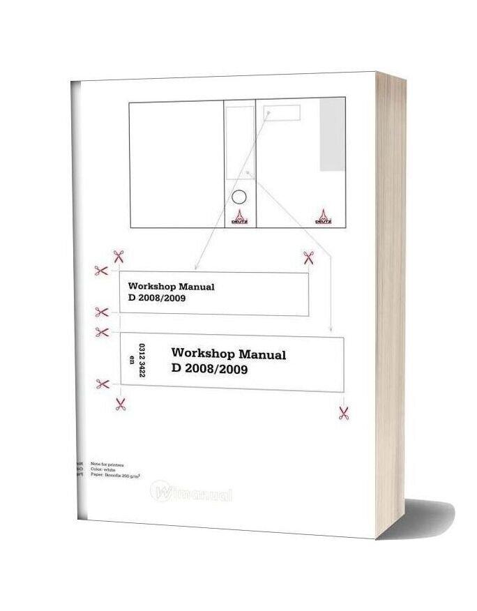 Deutz Engine Wh 2008 2009 Workshop Manuals