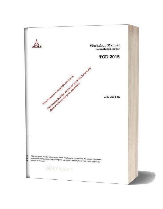 Deutz Engine Wh 2015 03123514 Workshop Manuals