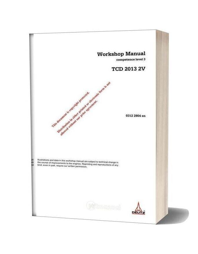 Deutz Engine Wh Tcd 2013 2v Workshop Manuals