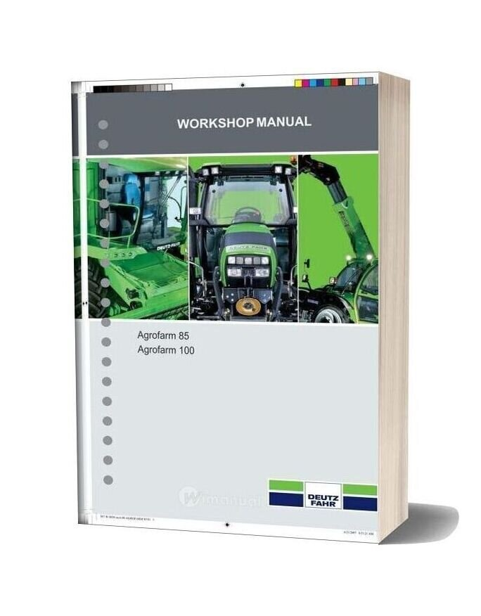 Deutz Fahr Agrocompact Agrofarm 85 100 Workshop Manual