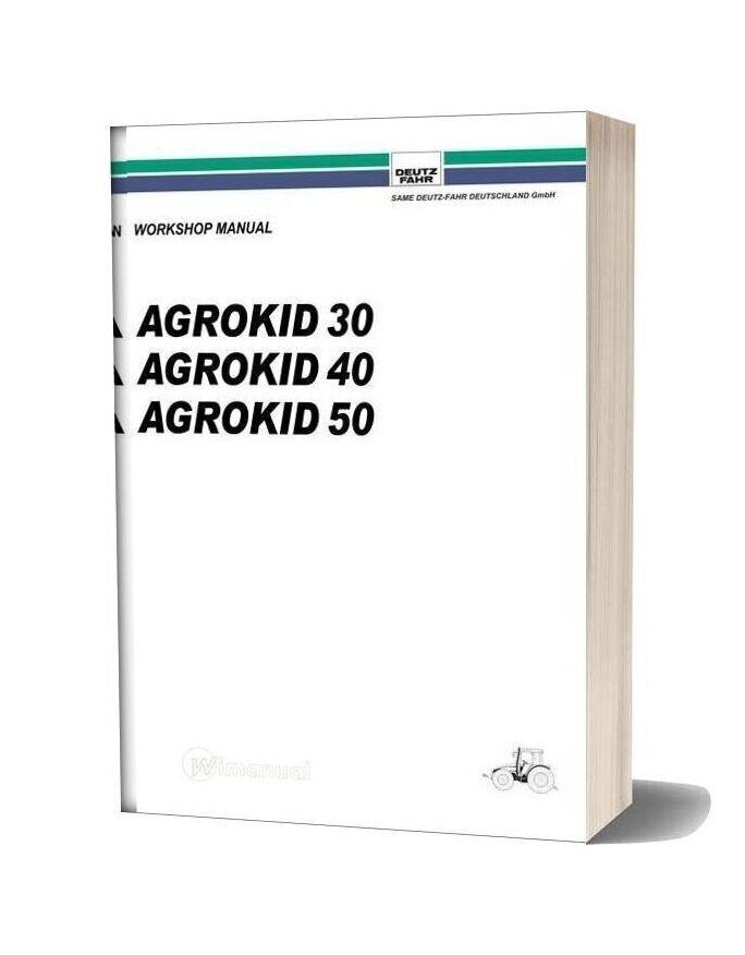 Deutz Fahr Agrokid 30 40 50 Workshop Manual