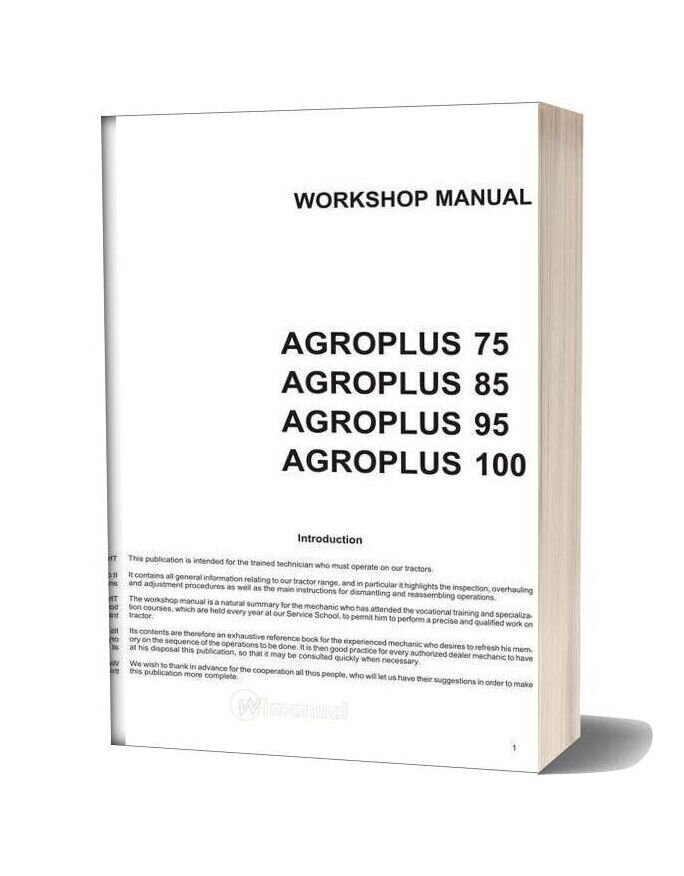 Deutz Fahr Agroolus 75 85 95 100 Workshop Manual