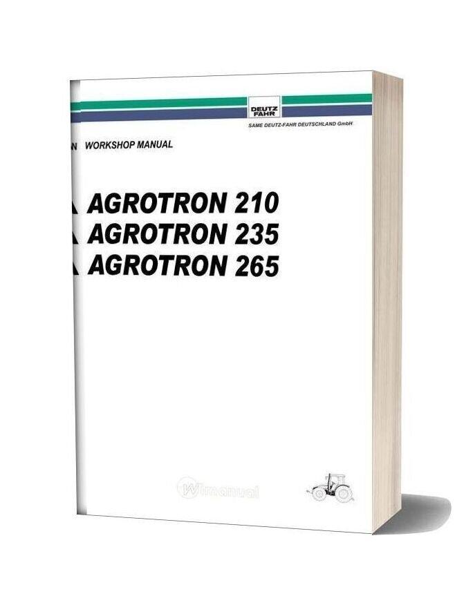 Deutz Fahr Agrotron 210 235 265 Workshop Manual