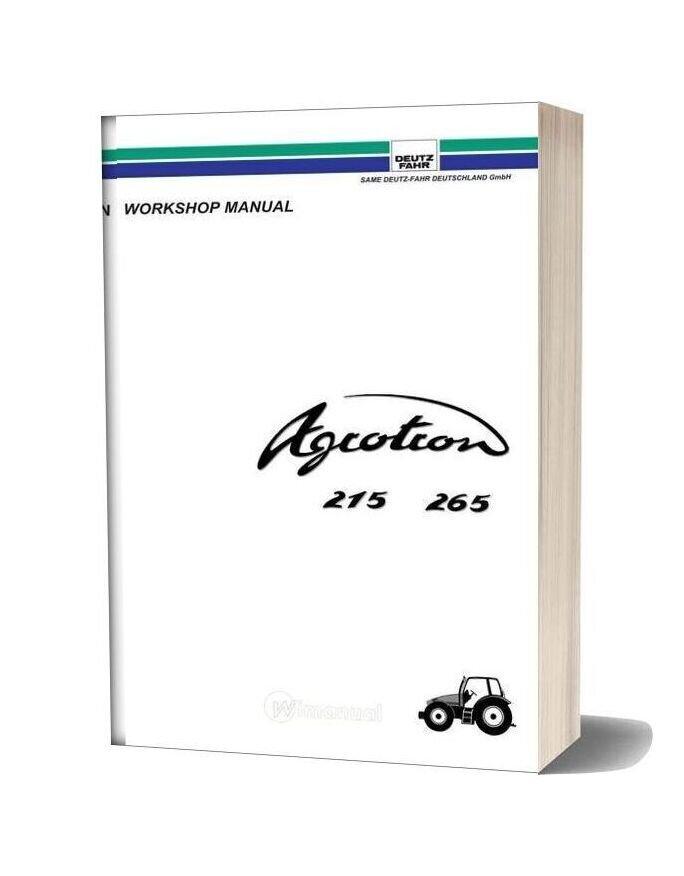 Deutz Fahr Agrotron 215 265 Workshop Manual