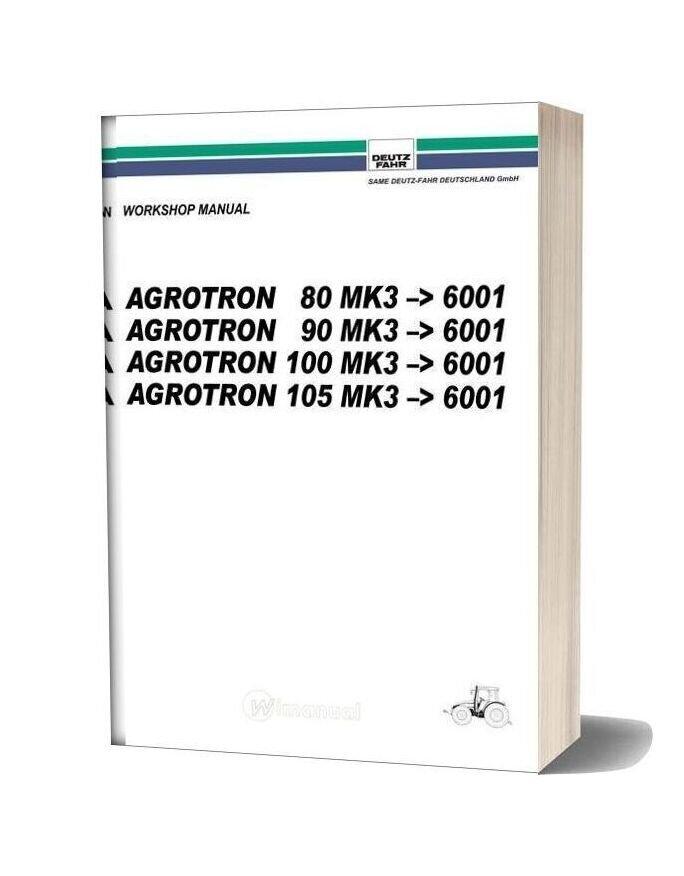 Deutz Fahr Agrotron 80 90 100 105 Workshop Manual