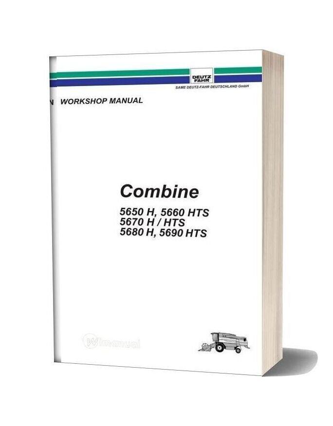 Deutz Fahr Combine 5650 5690 Workshop Manual