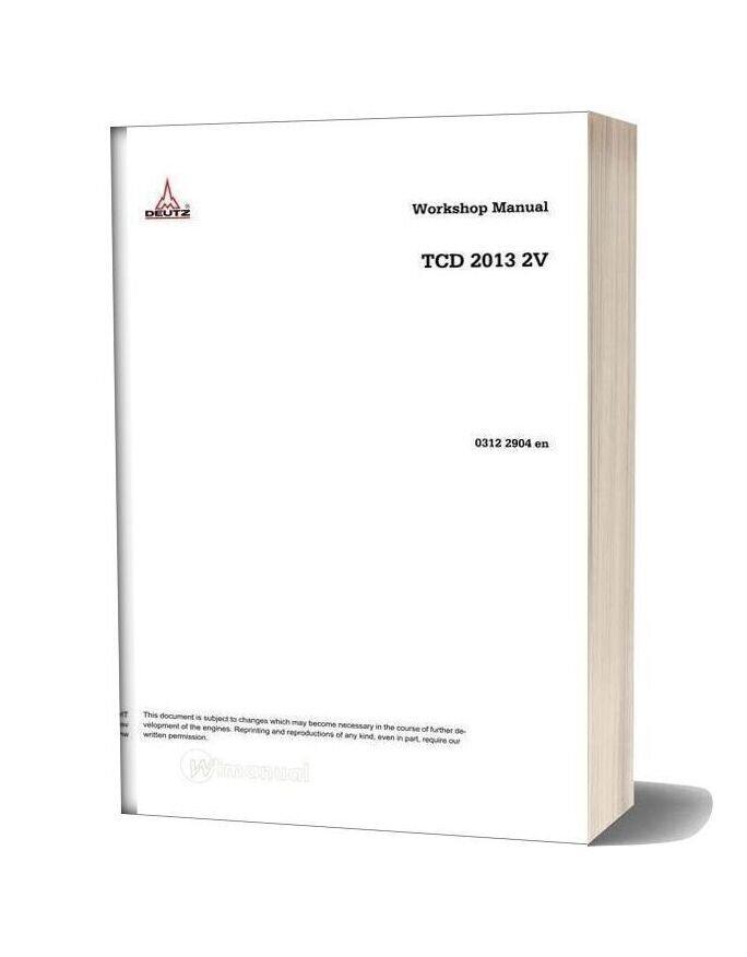 Deutz Tcd 2013 2v Workshop Manual