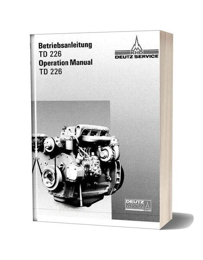 Deutz Td 226 Operation Manual