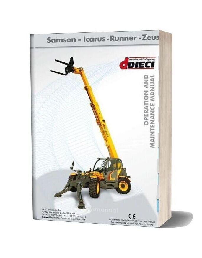 Dieci Samson Icarus Runner Zeus Operation & Maintenance Manual