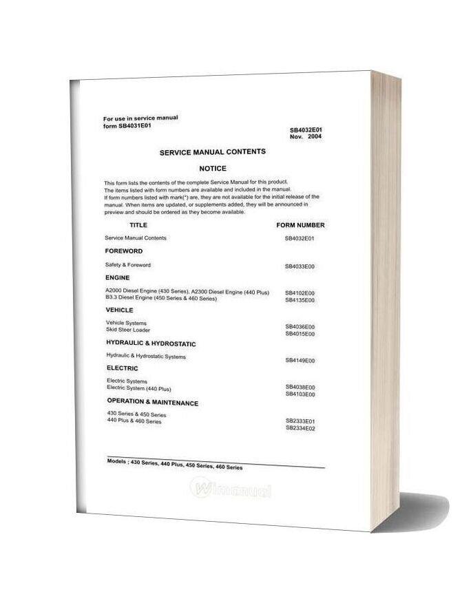 Doosan 440 Plus Shop Manual