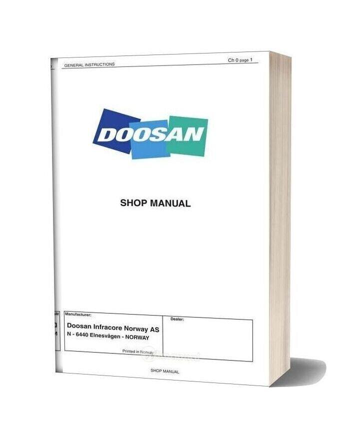 Doosan Dump Truck Da40 Shop Manual