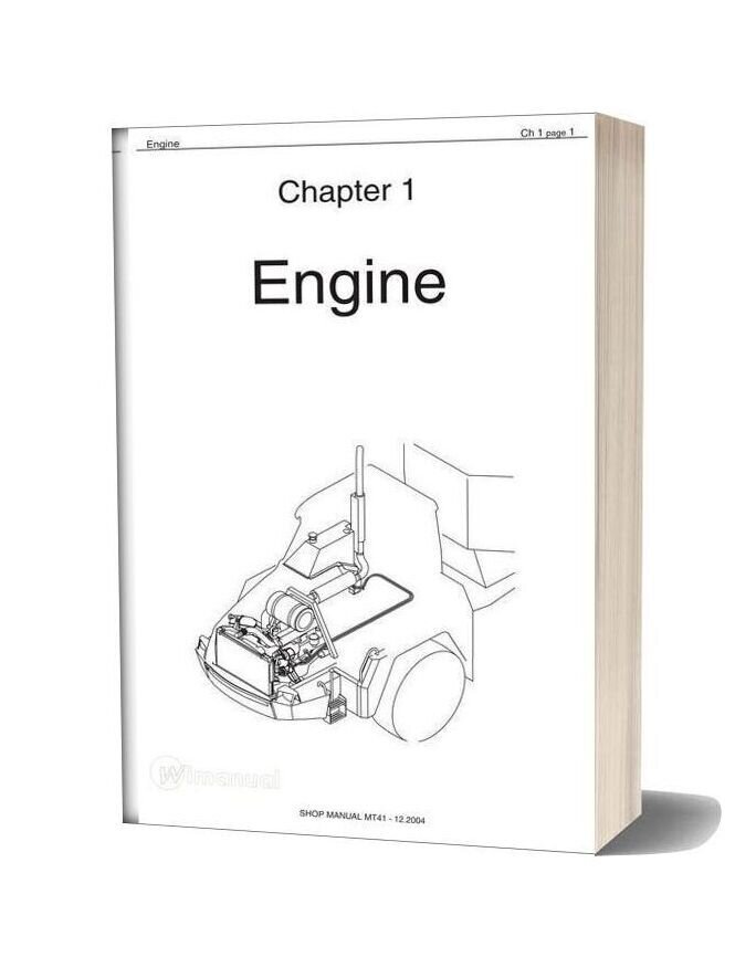 Doosan Dump Truck Mt41 Shop Manual