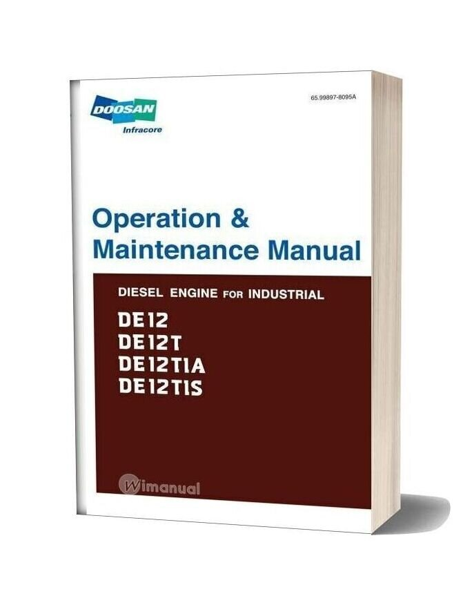 Doosan Engine De12 Engine Operation Manual