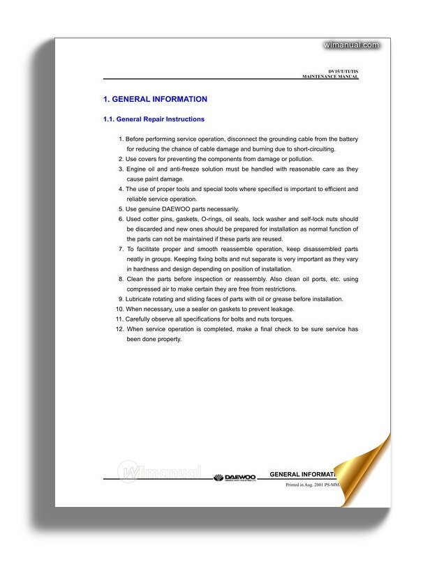 Cummins Engine L10 Series Repair Manual