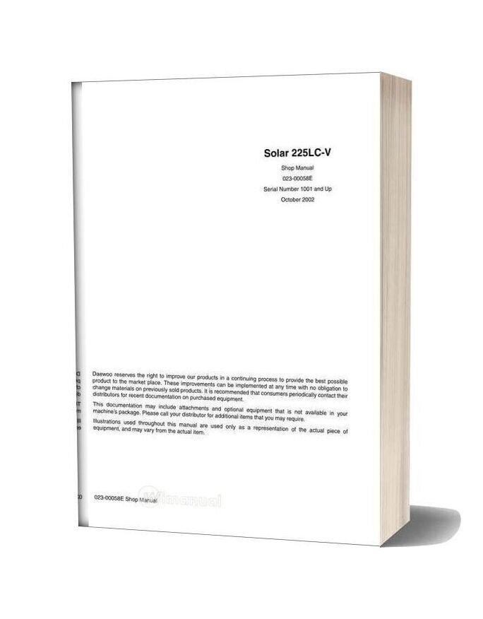 Doosan Solar 225lc V Shop Manual