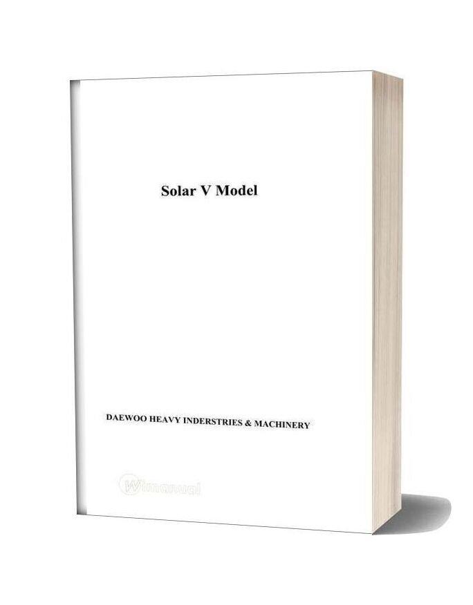 Doosan Solar V Series Features Service Training