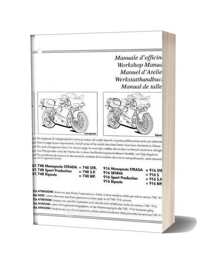 Ducati 748 916 Workshop ManualWiManual