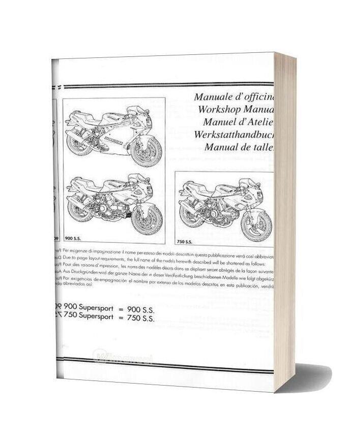 Ducati 750ss 900ss 1991 1996 Workshop Manual