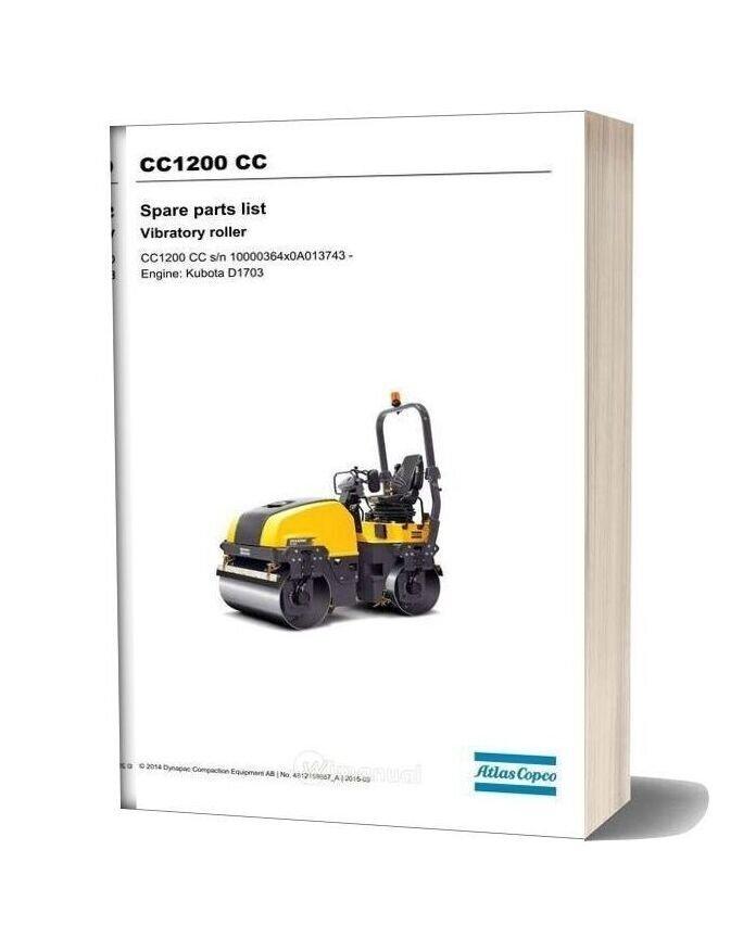 Dynapac Cc1200 Cc Spare Parts Catalogue