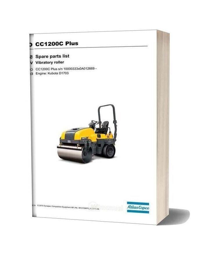 Dynapac Cc1200c Spare Parts Catalogue