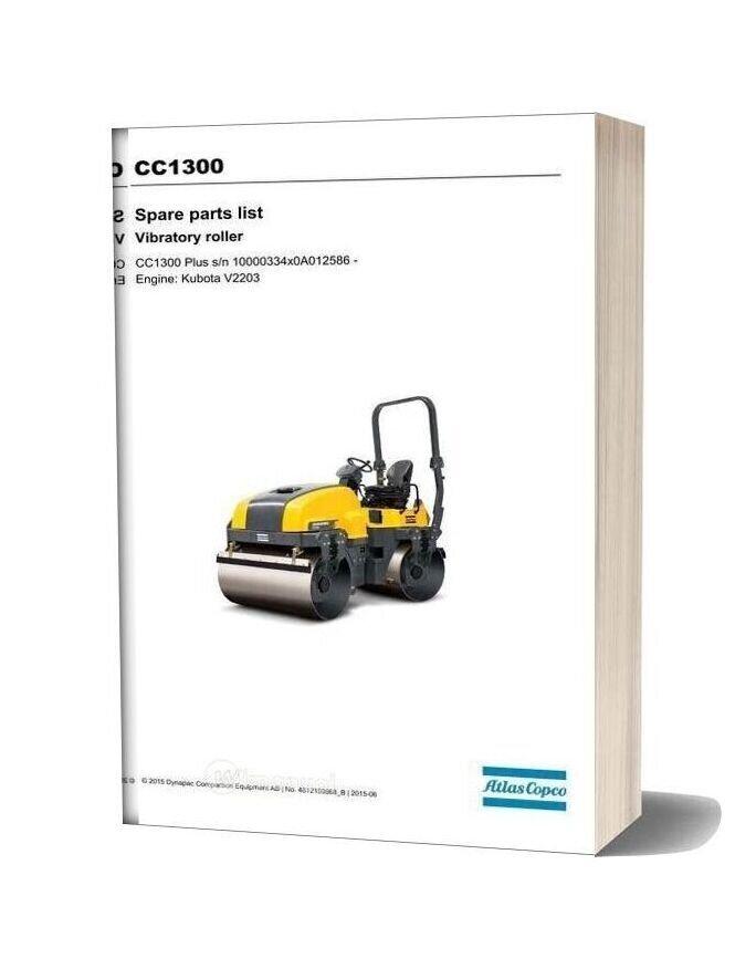 Dynapac Cc1300 Spare Parts Catalogue