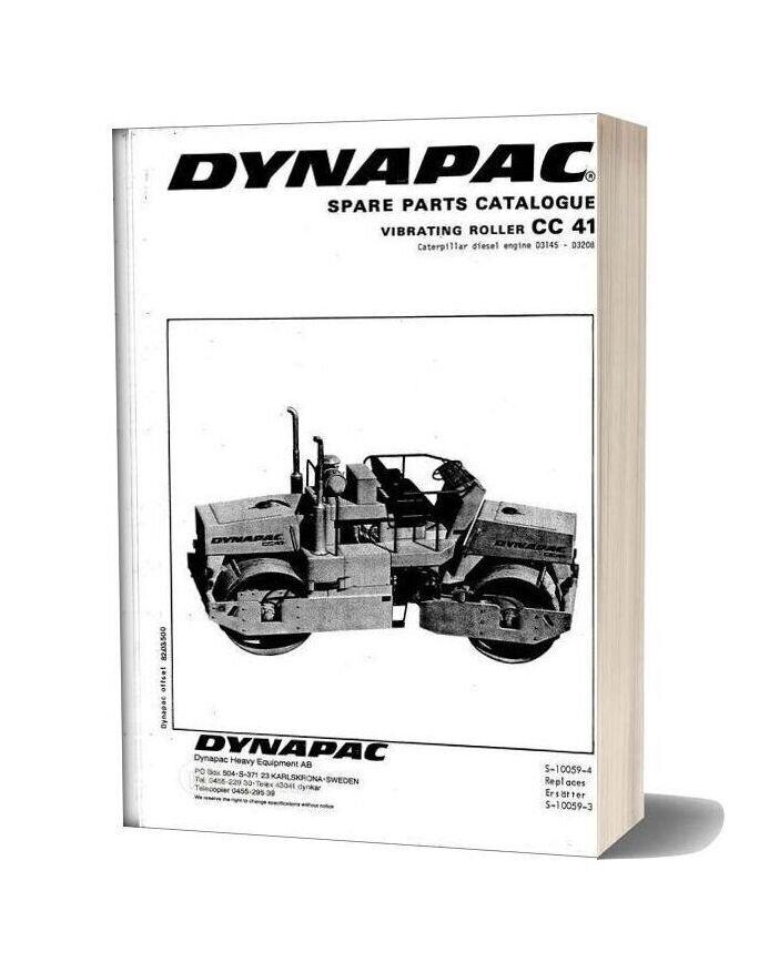 Dynapac Cc41 Vibrating Roller Spare Parts Catalogue