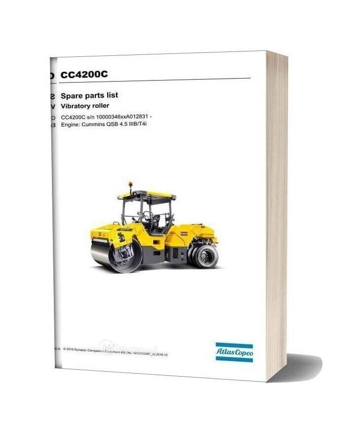 Dynapac Cc4200c Parts Manual