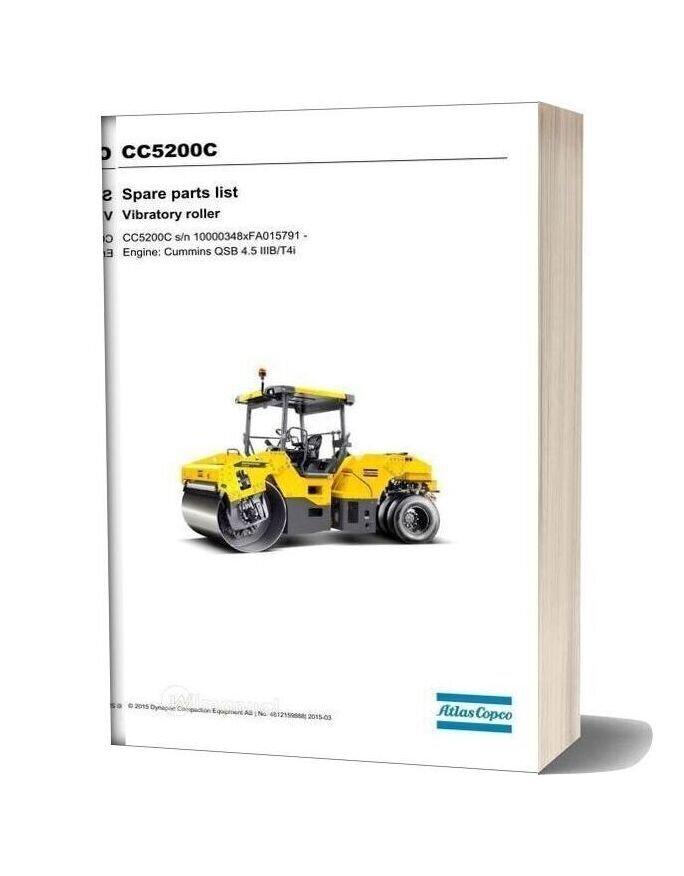 Dynapac Cc5200c (Iiibt4i) Spare Parts Catalogue