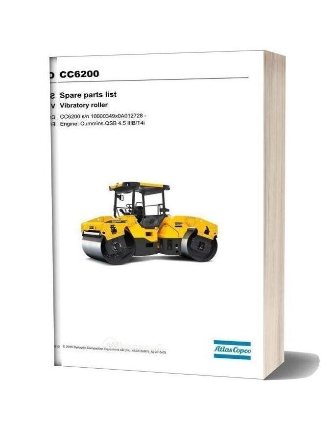 Dynapac Cc6200 (Iiibt4i) Spare Parts Catalogue
