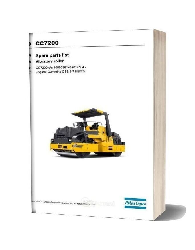 Dynapac Cc7200 (2) Spare Parts Catalogue