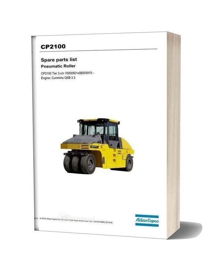 Dynapac Cp2100 (T3) Spare Parts Catalogue